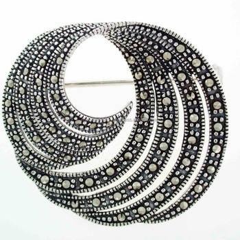 9de23c13bdca Diseño Vintage 925 Plata Esterlina Marcasita Broche - Buy Tailandia ...