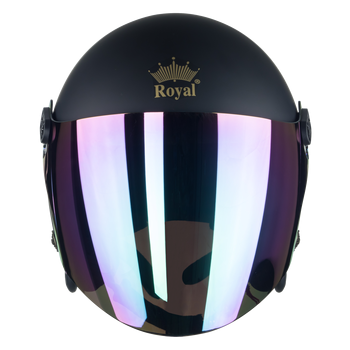 3/4 Vintage open face classic helmet factory sale with flip up visor helmet high-quality advanced ABS Royal M20KA for sale