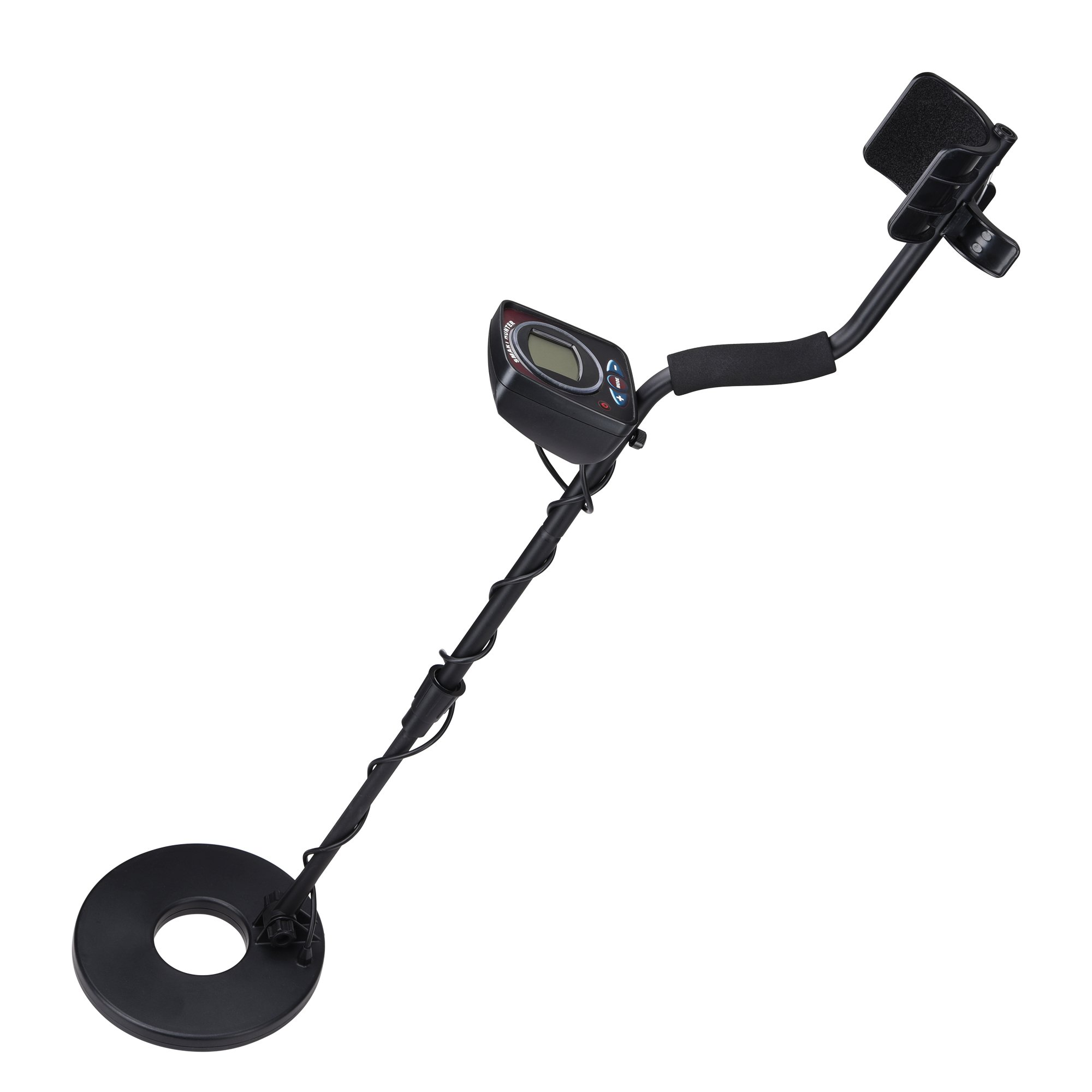 "AW LED Metal Detector 2 Modes Sensitive Search Waterproof 8-3/5"" Coil Accurate Gold Digger Treasure Hunter Finder"