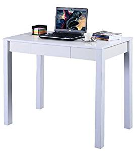 K&A Company Writing Computer Desk Table Home Office Laptop Furniture Workstation Side Storage Drawer Modern Folding Study Desk Drawer White