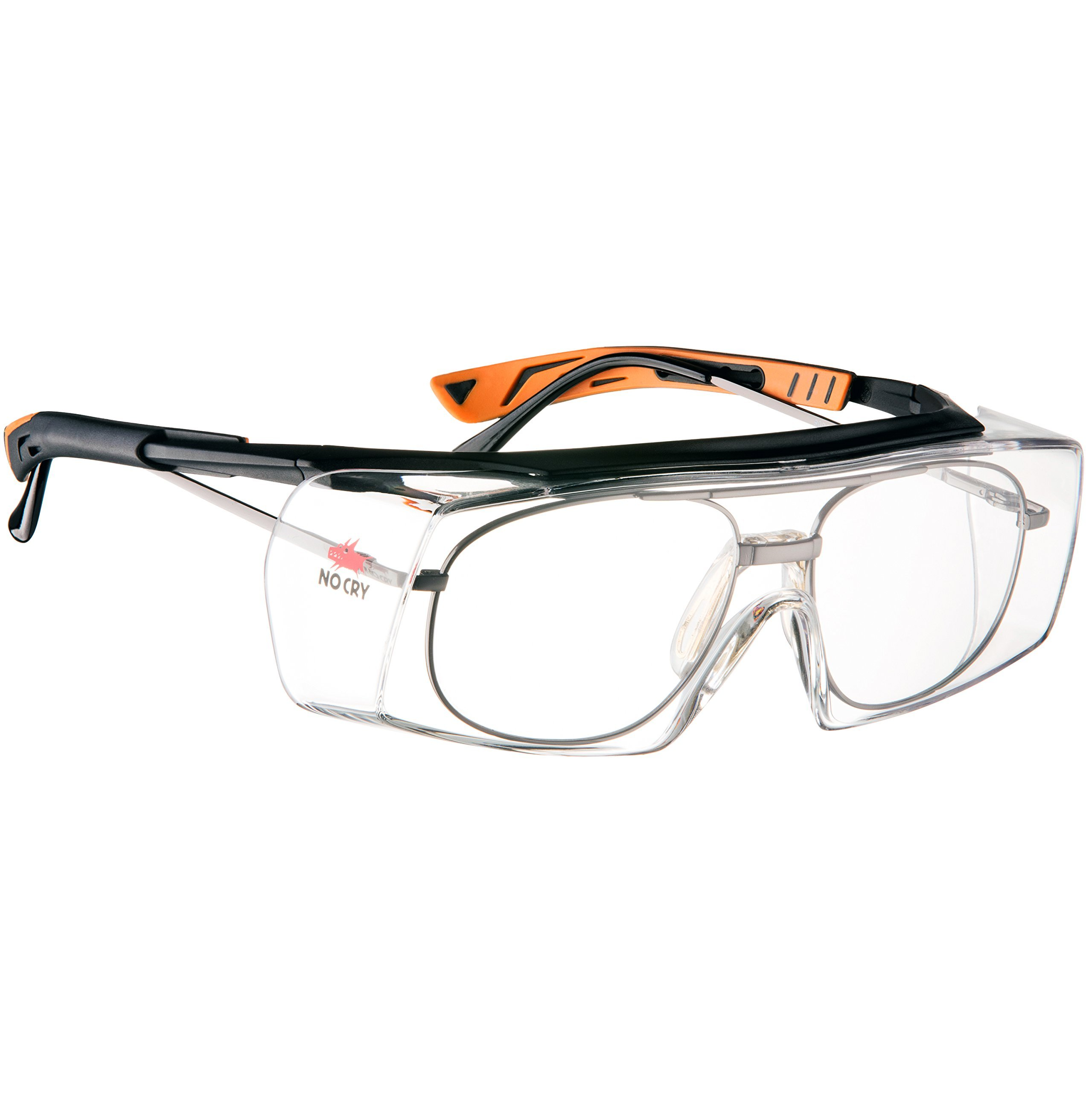 691eb1293db9a Get Quotations · NoCry Over-Spec Safety Glasses with Anti Scratch  Wrap-Around Lenses