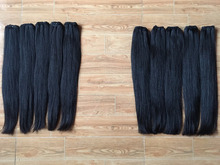 Best sale up to 50% soft kinky straight hair extension shiny virgin Brazilian hair natural color 100 human hair