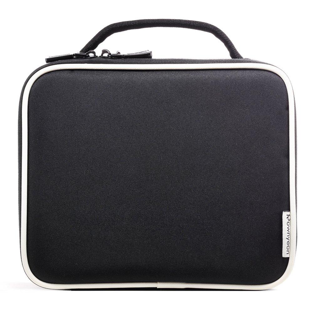 3689e9c90bbb ROWNYEON Portable Travel makeup bag Makeup Case Mini Makeup Train Case  9.8   (White
