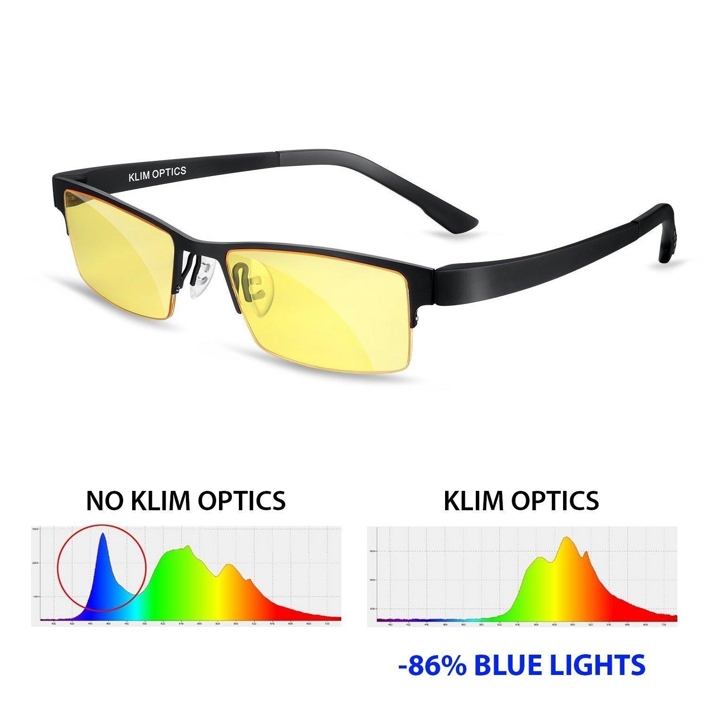 5c14e6501c Get Quotations · ⭐️KLIM Optics Blue Light Blocking Glasses - High  protection for screen - Blue Blocker Gaming