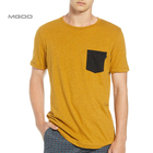 MGOO Fashion Jersey Pocket T Shirt Classic Jersey Knit Crewneck Tee Contrast Chest Patch Pocket Custom Mens T Shirt