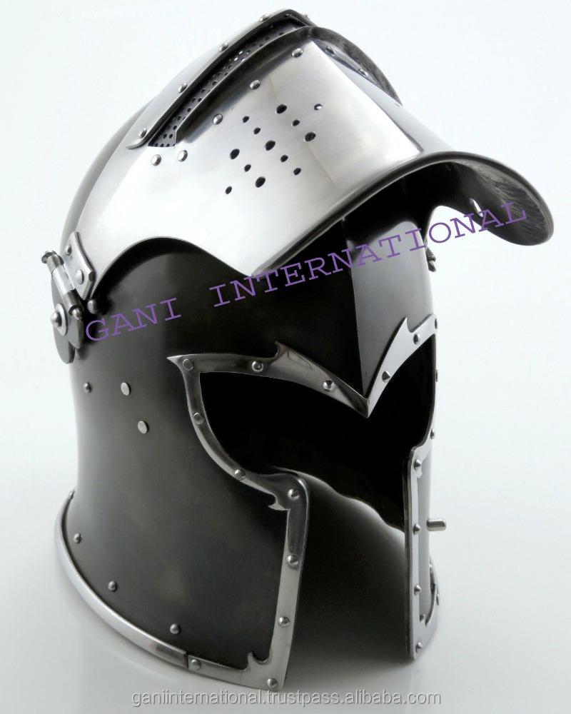 Armor Helmet English Close Helm 18 Gauge Medieval Knight Collectible Reenactment
