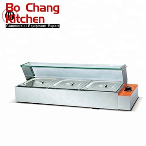 Hot sales Commercial Electric 3 Pans Hot Food Display/Food Warmer Bain Marie