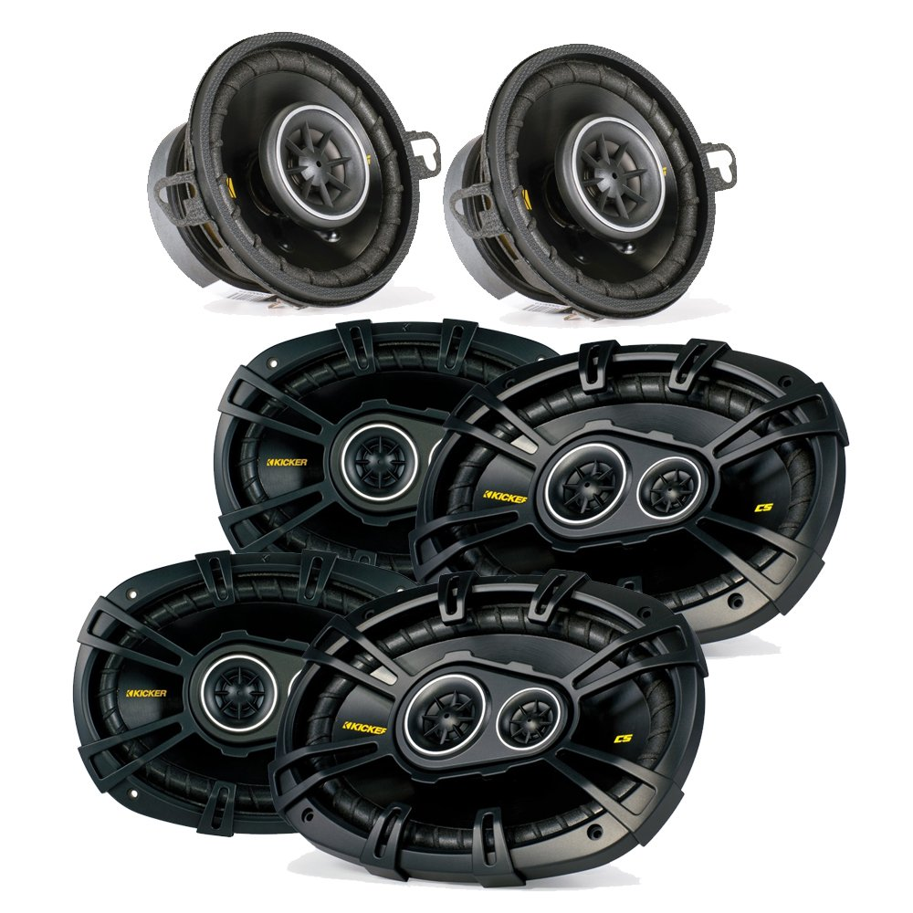 "Kicker Dodge Ram Crew Cab 2012 & up speaker bundle- 2 pairs of CS 6x9"" speakers, & a pair of CS 3.5"" speakers"