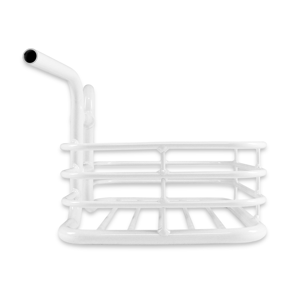 Alloy Integral Forming Handlebar Basket of City bicycle/Fixed gear/Single speed bike with Product Patent-L/White