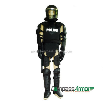 full body police anti riot suit body armor military tactical gear