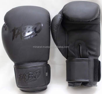 Customs Boxing Gloves Black Sparring Kickboxing 10 12 14 16oz Training