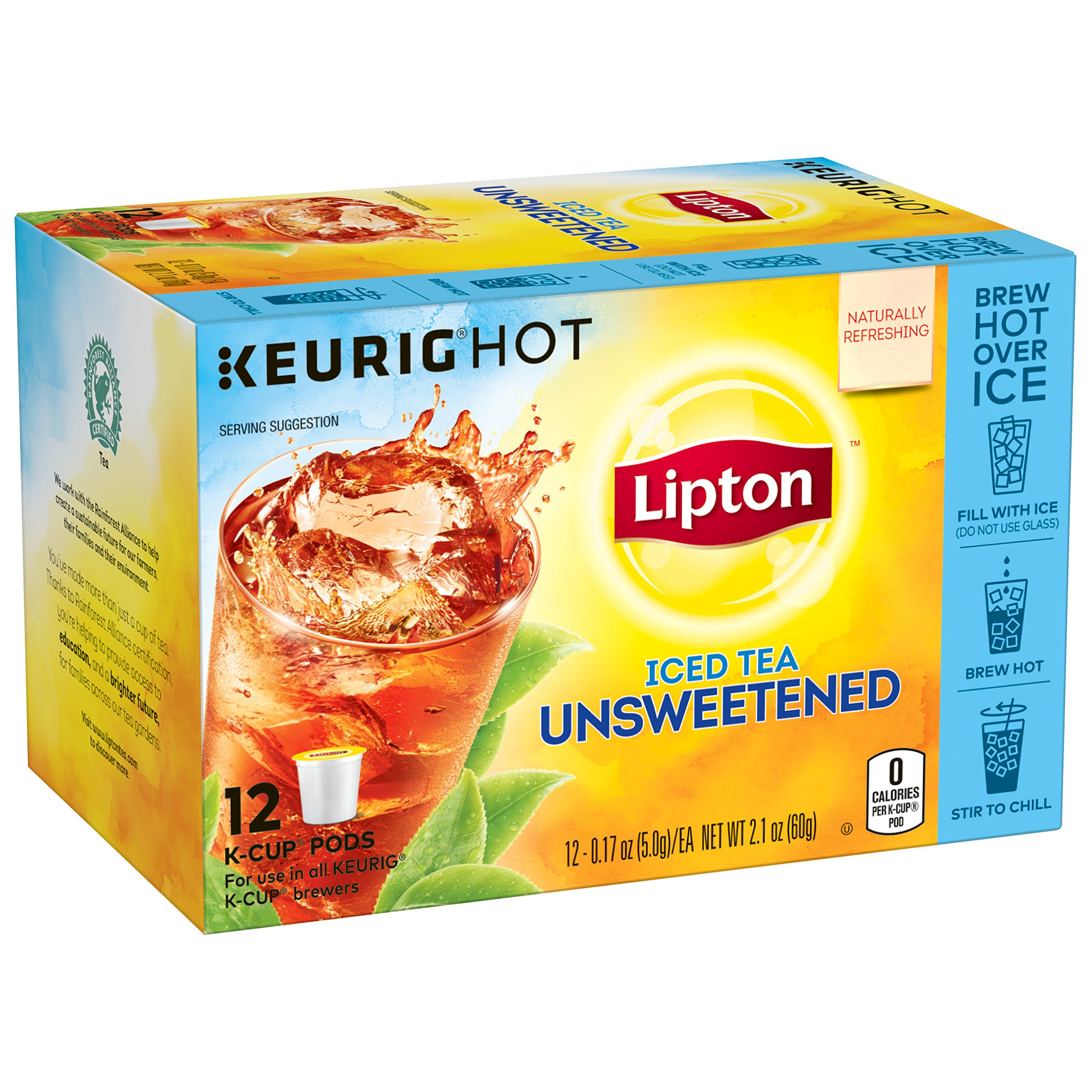 Lipton Iced Tea K-Cups, Iced Tea Unsweetened 12 ct
