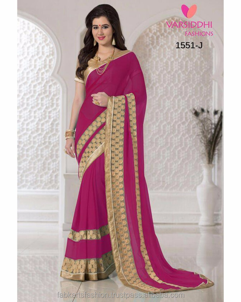 Varsiddhi 1551 Colors Chiffon Georgette embroidery work Sarees