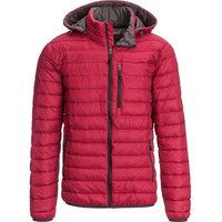 Cold weather winter red bubble puffer coat men crane down jackets