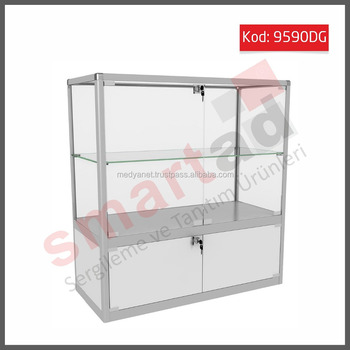 Retail Counter Display Showcase Gl Cabinet