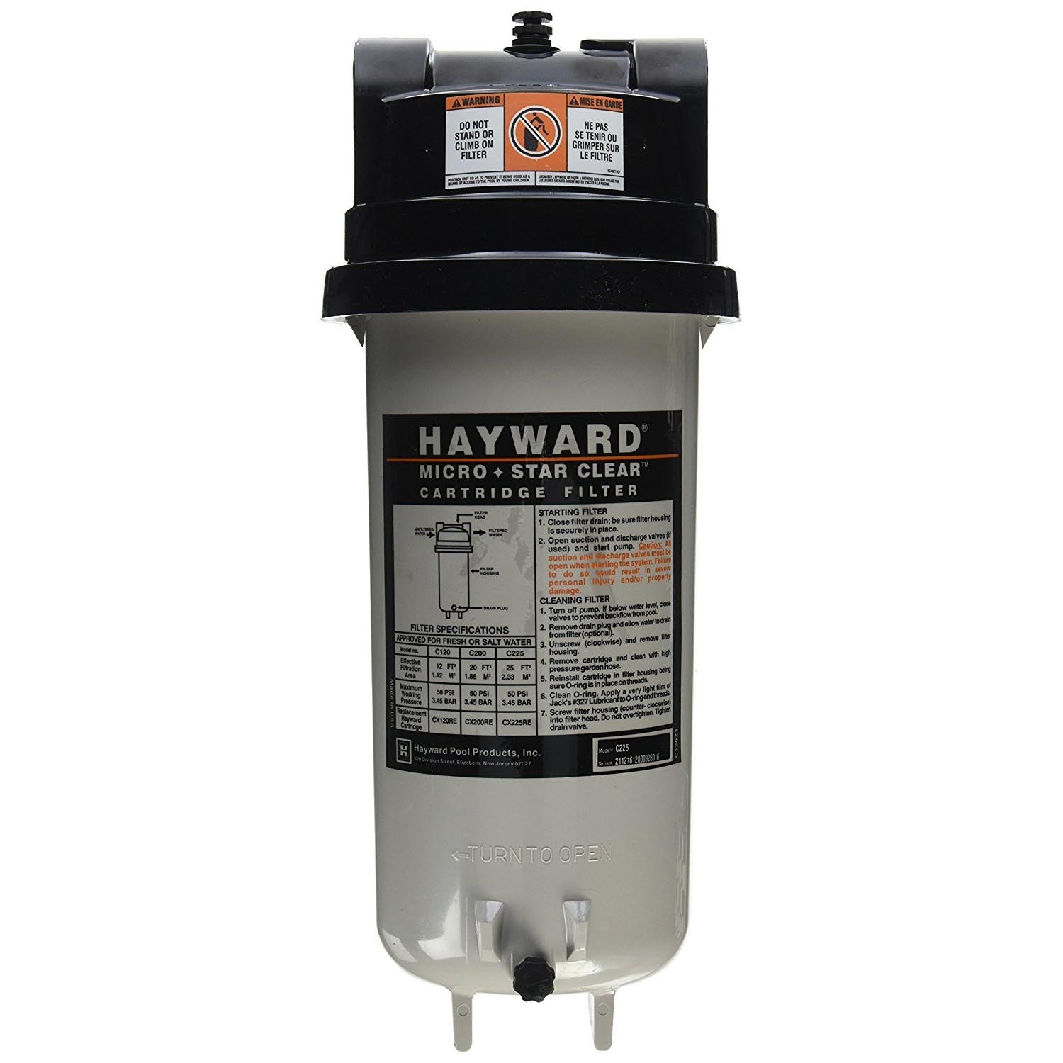 Cheap Hayward Cartridge Filter Find Deals Pool System Diagram Fill In Service Get Quotations C225 Starclear Micro 25 Square Foot