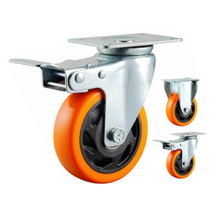 4inch 5inch 6inch 8inch orange PVC caster wheel for hand cart