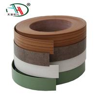 2mm Flexible Plastic Wood Grain Furniture Mdf Pvc Edge Banding Tape For Wood Tables