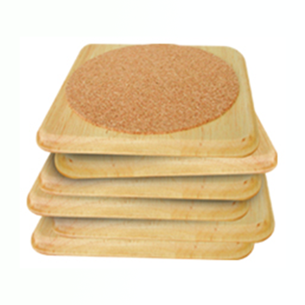 6 Pieces Coaster Persegi Kayu Set Kitchen Utensil