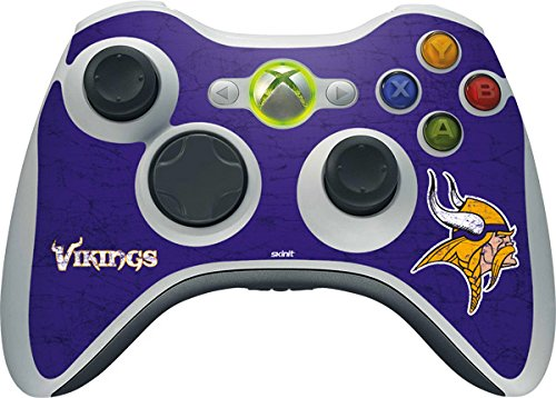 NFL Minnesota Vikings Xbox 360 Wireless Controller Skin - Minnesota Vikings Distressed Vinyl Decal Skin For Your Xbox 360 Wireless Controller