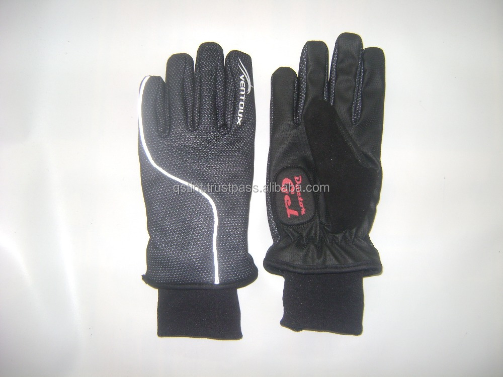 Synthetic Leather Full Finger Cycling Glove MTB Bike Racing