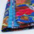 Vintage indian kantha bedspread handmade printed quilt throw blanket