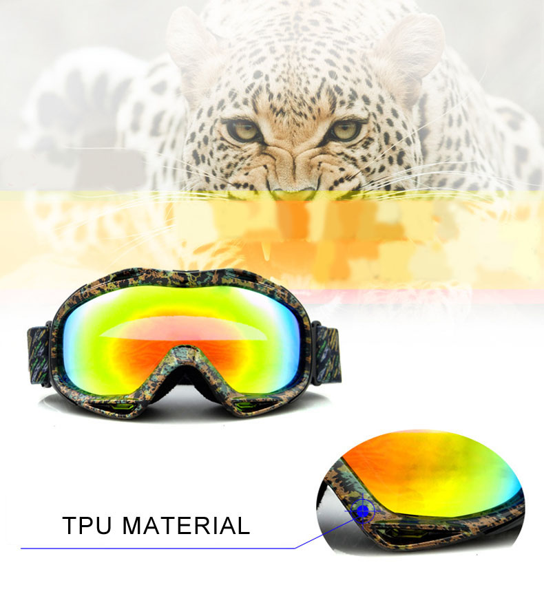 Adult Plating antifogging Myopic Glasses Optional Ski Goggle