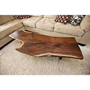 Mexican Solid Wood live edge with metal leg coffee table / center table
