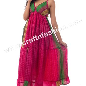1ae64540d31 Hippie Boho Summer Wear Designer Poly-Silk Women s Maxi Dress - Printed  Ibiza Style Designer