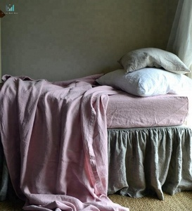 Softened Flax Linen Throw Blanket. Blush pink Bed Cover. Bedspread. Coverlet. Comforter. Rustic Rough Heavy Weight