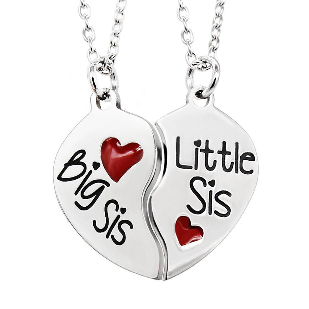 d95a2e4add Get Quotations · AGR8T Sister Necklaces Pendant Jewelry Set - Big Little  Sister Family Gifts Jewelry Set Stainless Steel