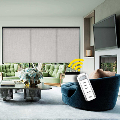 Smart home automation blackout roller shades asta