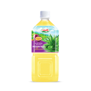 1L NAWON Passion Aloe vera Juice drink bottled with pulp