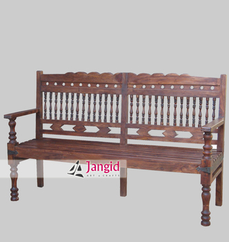 Solid Long Sheesham Wooden Furniture Bench, Outdoor Furniture Bench
