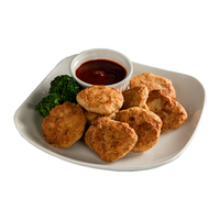 Frozen food fried chicken like flavor nuggets for vegan diet food to get protein