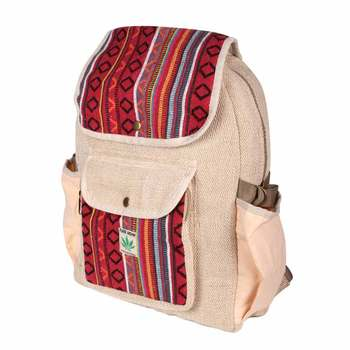 Adorable Himalayan Natural Hemp Backpack - High Quality Multi pocket large  school college bag - dc8197f106b5a