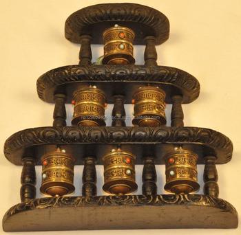 Wall Decor Tibetan Buddhist Prayer Wheel- Mantra Carving Prayer Wheel 5 In  1 - Buy Buddhism Electric Prayer Wheel,Decorative Metal Wheel,Tibetan