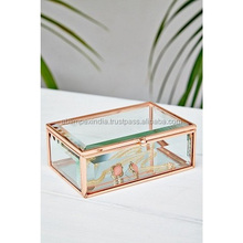COPPER FINISH ROSE GOLD WEDDING INVITATION BOX AND JEWELRY / STORAGE BOX