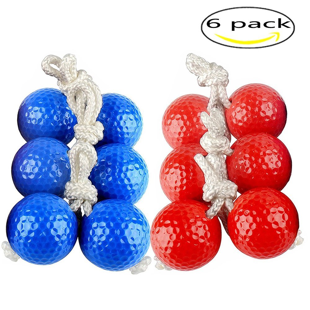 Get Quotations Kaptin 6 Pack Ladder Toss Ball Replacement Golf Bolos Bolas With Real
