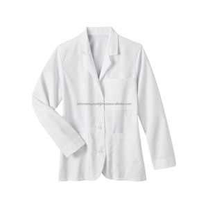 medical wear uniform & coat/men /white long suit & coat