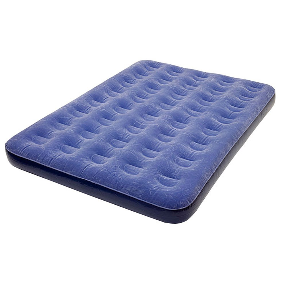 Pure Comfort Inflatable Air Mattress: Low-Profile Bed with External Air Pump