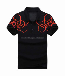 Printed Polo Shirt For Casual Work