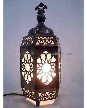 Lámparas Wvidrio Lámpara De B171 Mesalinterna De De Hexagonal Mesa Marroquí Linternas Esmerilado Y Latón Buy Marroquí Latón Lámpara b7g6yYf