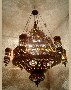 Br235 Antique Reproduction Large Huge Turkish Ic Style Pendant Light Fixture