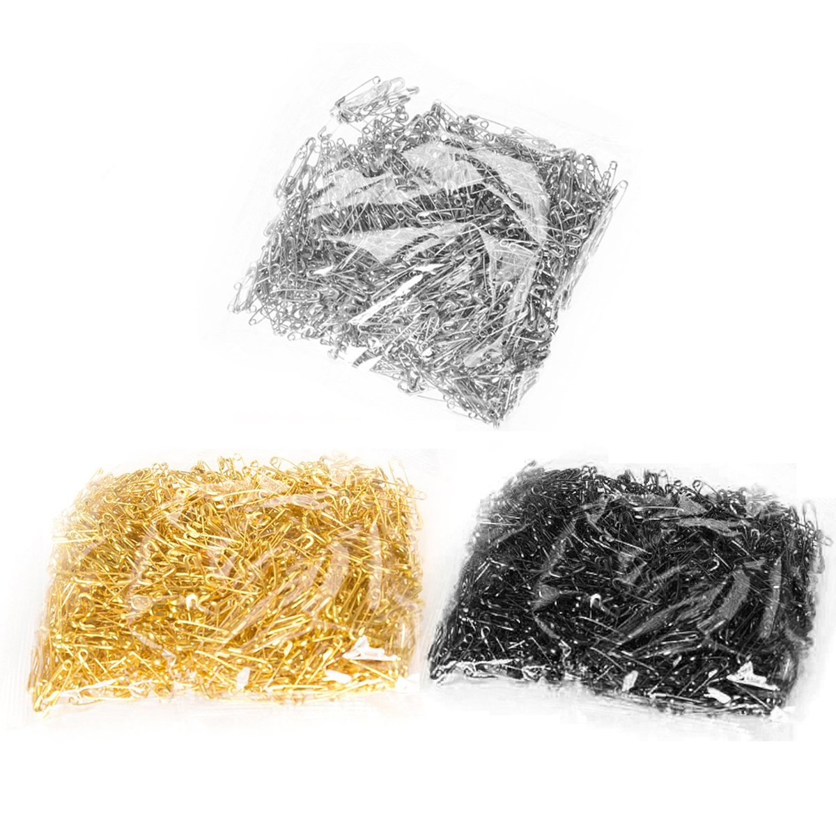 Gold 500Pcs Metal Gourd Safety Pins Small Steel Wire Craft Clothing Tag Pin Clip Buttons Clothing Trimming Fastener Tool DIY Home Accessories