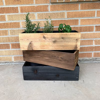 Reclaimed Wood Planter Box Great for Succulent, Cactus, Herbs, Flowers