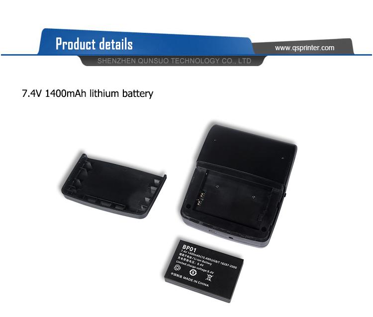 58Mm 24 Phông Chữ Trên Mỗi Dòng Di Động Dot Matrix Máy In Bluetooth