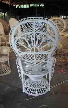 Madeline Cane Peacock Chair For Sale