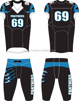 premium selection dfb17 a5760 2017 Wholesale Customized Black Panther American Football Uniform Jersey  Pant / American Football Jersey - Buy Custom Design American Football ...