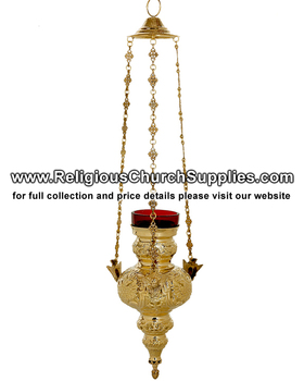 Gold Plated Hanging Vigil Lamp - Buy Hanging Vigil Lamp,Istok Church  Supplies,Eastern Christian Supply Product on Alibaba com